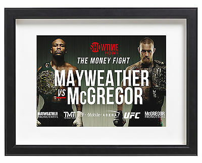 Mayweather vs McGregor A4 Poster The Money Fight Las Vegas 2017 MMA Boxing