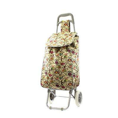Zone - Owl Print Shopping Trolley Bag in Beige - Sizes 1
