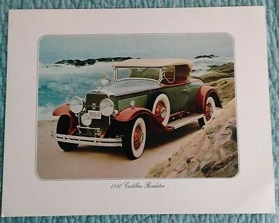 1930 Cadillac Roadster Car Original Frameable Print