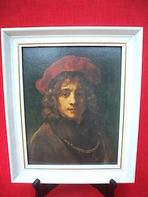 rembrandt : son of the artist ,framed painting  print on board ,printed belgium