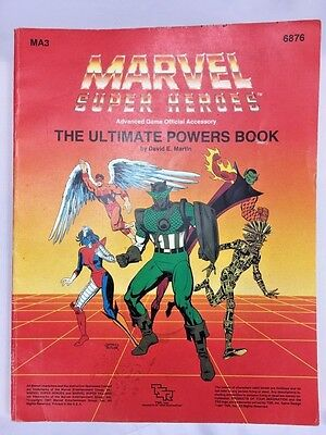 TSR Marvel Super Heroes The Ultimate Powers Book MA3 6876 1987 RPG