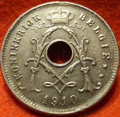 1910 Belgium 5 Centimes GEM AU/BU with Luster UNCIRCULATED  Very nice coin