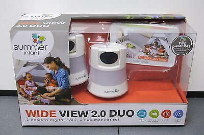 Summer Infant WIDE VIEW 2.0 DUO Digital Color Video Baby Monitor Set 29610 NEW