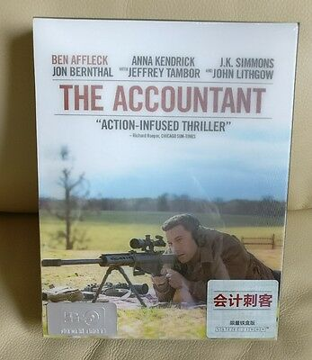 The Accountant  HDZeta Blu-ray Steelbook,  Sealed/Mint