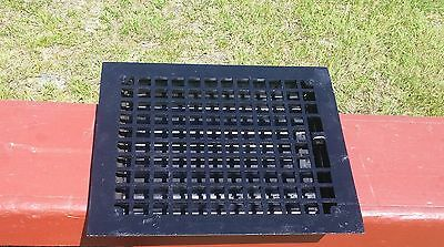 EXCELLENT ANTIQUE Floor GRILLE CAST IRON 12x10 + LOUVERS Grate HEAT REGISTER