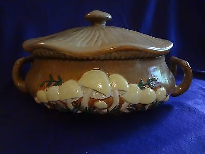 Cookie jar soup tureen vintage retro mushrooms Arners