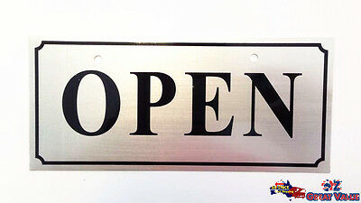 Open Close Double Sided Hanging Sign Aluminum Alloy Shop Office Restaurant OZ