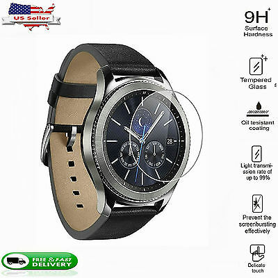2X Tempered Glass Screen Film Protector For  Samsung Gear S3 Classic