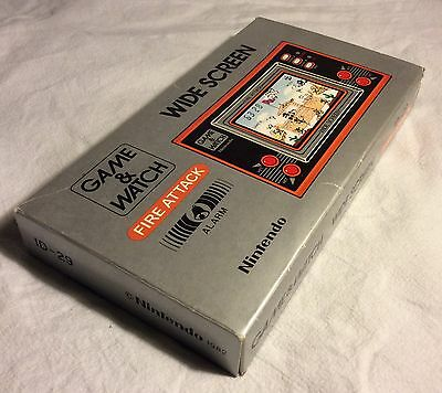Original Nintendo Game & Watch Fire Attack Id - 29 Near Mint In Box For Sale!