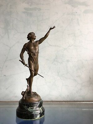 French bronze figure of Victory, by Emile Louis Picault (1839-1915), late 19th c