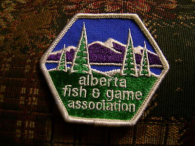 ALBERTA FISH + GAME ASSOCIATION PATCH Wildlife,hunting,fishing,Conservation,MNR