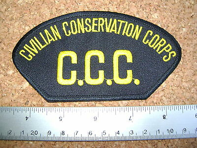 VINTAGE C.C.C. CIVILIAN CONSERVATION CORPS PATCH environment,wildlife,MNR.,L.+F.