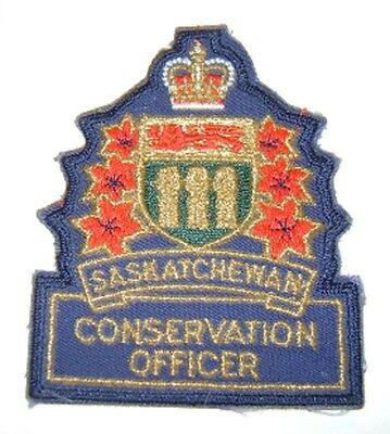 SASKATCHEWAN CONSERVATION OFFICER PATCH wildlife,hunting,fishing,moose,deer,elk
