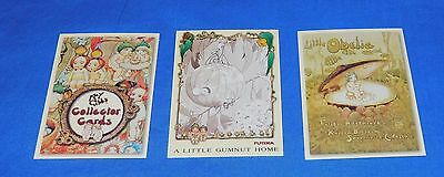 1995 Futera May Gibbs Collector cards X 3 Promo Snugglrpot + Cuddlepie Mint