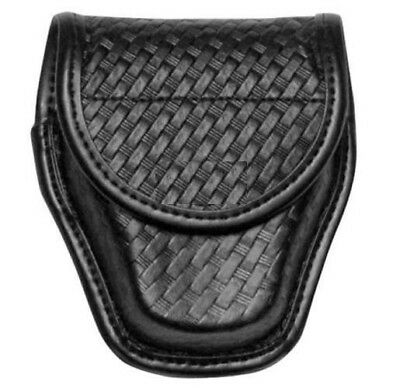 Bianchi 22178 Black 7917 Basketweave AccuMold Elite Double Handcuff Case