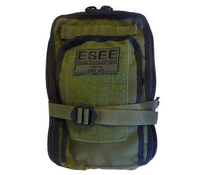 "ESEE SURVIVALBAG Survival Bag Pack Nylon Logo Patch OD Green 8""x12""x5"""