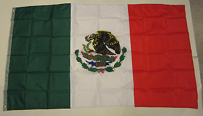 5 New Mexican Flags 3' X 5' Flag Of Mexico Indoor Outdoor Mexican Banner 3 By 5