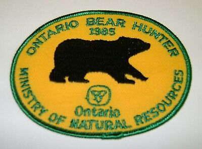 1985  RARE MNR,ONTARIO, BEAR  Hunting Patch,Crest, [deer,bear,moose,elk]