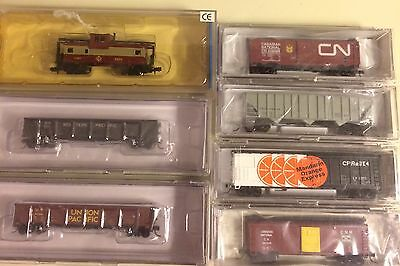 N Scale Train Lot Of 7 New Old Stock Bachmann,Trainworx,Hobby Quality