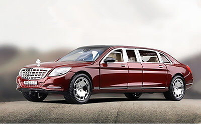 1:24 Mercedes Maybach S600 Limousine Diecast Metal Model Car New in Box Wine
