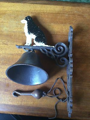 Large Cast Iron Door Bell.old.border Collie.dog