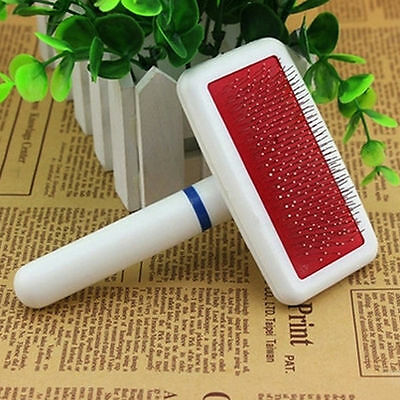 Pet Cat Puppy Dog Hair Shedding Grooming Trimmer Fur Comb Brush Slicker Tool