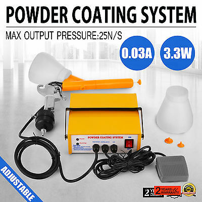 Portable Electrostatic Powder Coating System PC03-5 16AWG Paint Tools 5CFM Air