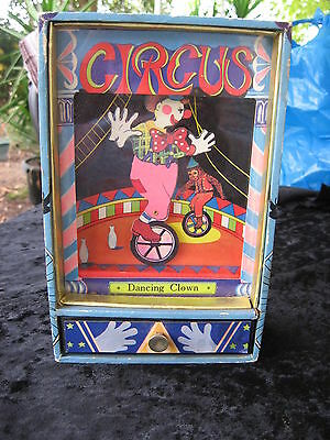 Vintage Dancing Clown Wind Up Music Box Plays Send In The Clowns Rare