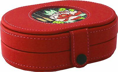 LEE Magnetic Needle Case LEATHER Red