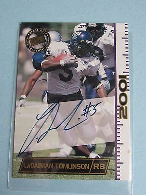 2001 Press Pass LADAINIAN TOMLINSON Certified Authentic ROOKIE CARD #fc35 jbv