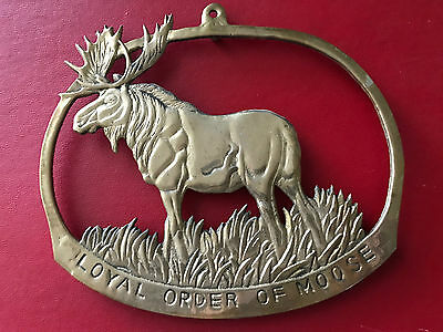 Vintage - Loyal Order of Moose brass wall plaque