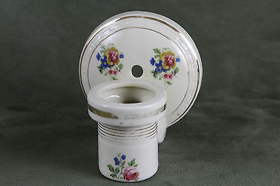Early 1930s Antique Vintage Porcelain Sconce Decorative Floral Wall Light
