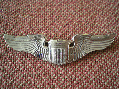 1949 Pattern USAF (US Air Force) Sterling Silver Pilot Wing Badge