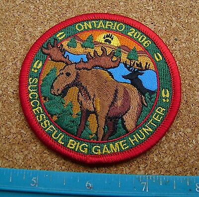 Ontario 2006 Successful Big Game Hunter Patch Moose,deer,bear,elk,hunting