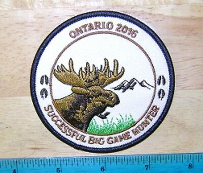 Ontario 2016 Successful Big Game Hunter Moose Patch,mnr,deer,bear,elk,hunting