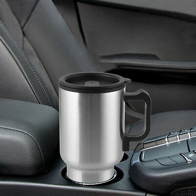 12V Car Heating & Keep Warm Vacuum Cup Stainless Steel Hot Drink Insulated Mug