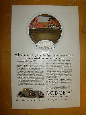 "1933 DODGE ""8"" Original Ad"