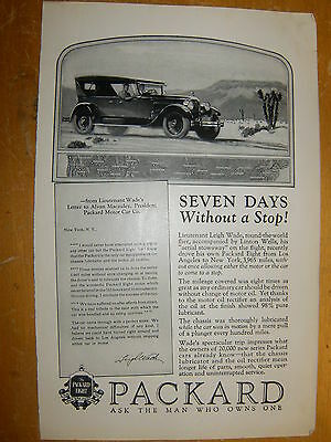 1925 Packard. Sales Photo Ad