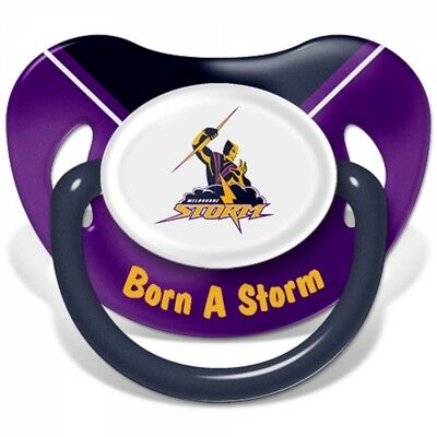 Melbourne Storm Official NRL Baby Infant Dummy Baby Shower 6+ months