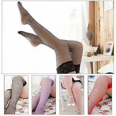 Lace Topped Thigh High Sheer Fishnet Stockings Hold Ups