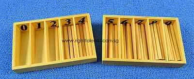Montessori Math - Miniature Spindle Box with Spindles - Small size