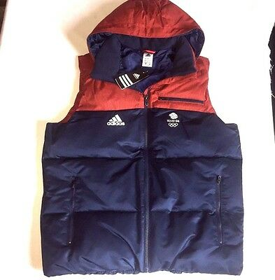 Olympic Team GB Winter Gilet Hoodie Sleeveless Jacket ATHLETE ISSUE BNWT S - M
