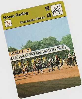 Rare 1979 Racetracks Pimlico Sportscaster Card #03 005 56-07 First Printing Mint