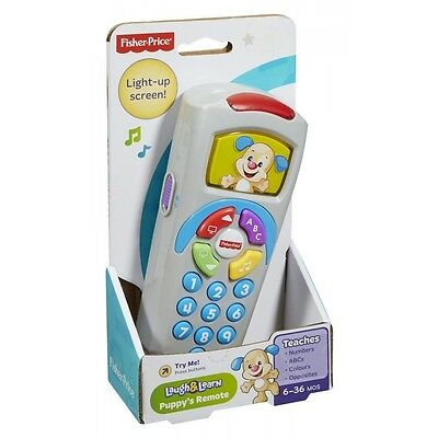 NEW BOXED Fisher Price Laugh & Learn Puppy's Remote BLUE 35+ SONGS PHRASES  FP