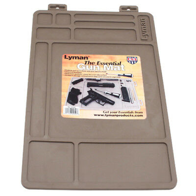 "Lyman 4050 Gray ""Essential"" Gun Maintenance Rubber Mat Chemical Resistant"