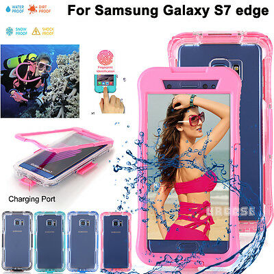 Swimming Waterproof Shockproof Clear Case Cover Fr Samsung Galaxy S8/S8+,S7 edge