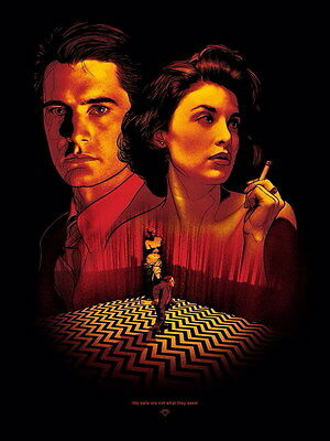 "008 Twin Peaks - Kyle MacLachlan Love Thriller USA TV Show 14""x18"" Poster"