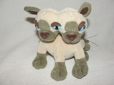 Cat MEANIES Plush Si and Mia the Siamese Cats Toy Idea Factory