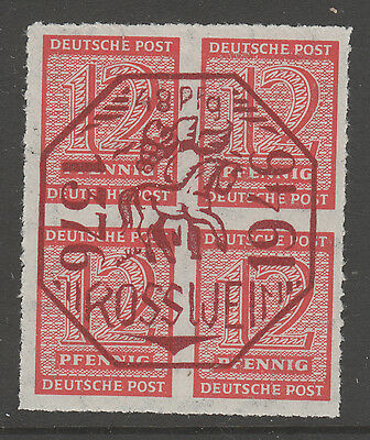 Germany, Post War Local  Rosswein Block Of 4 Mh