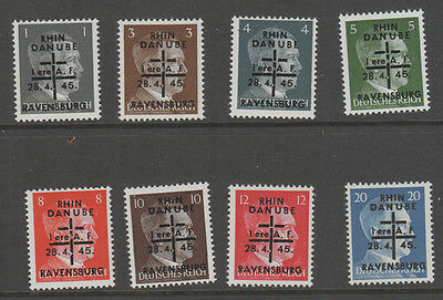 Germany,  Post War Locals   Ravensburg   Expertised Zierer Mnh X 8